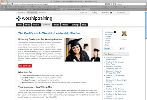 University Certificate Screenshot