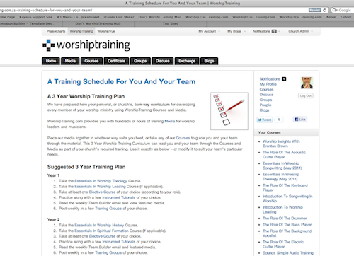 3 Year Training Plan Screenshout