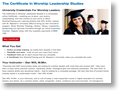 Worship Certificate